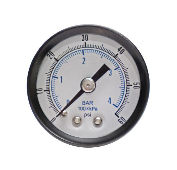 1/4″ NPT, 0-160 PSI (0-11bar), Brass Pressure Gauge