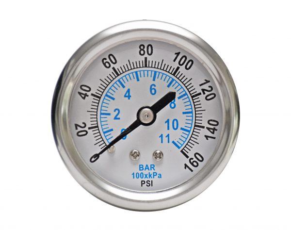 1/4″ NPT, 0-60 PSI (0-4bar), Stainless Steel Pressure Gauge